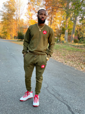 Ascend Sweatsuit | Olive Green
