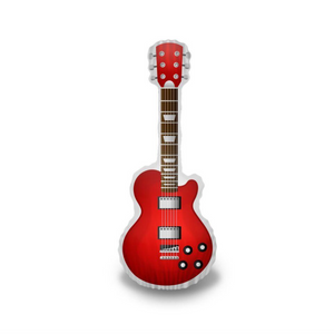 Classic Red Guitar Pillow