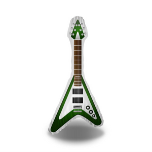 Green Electro Guitar Pillow