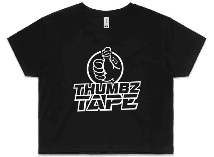 Crop Tee - Thumbz Tape, Team Gear - Hook grip, crossfit, thumb tape, hookgrip tape, weightlifting tape
