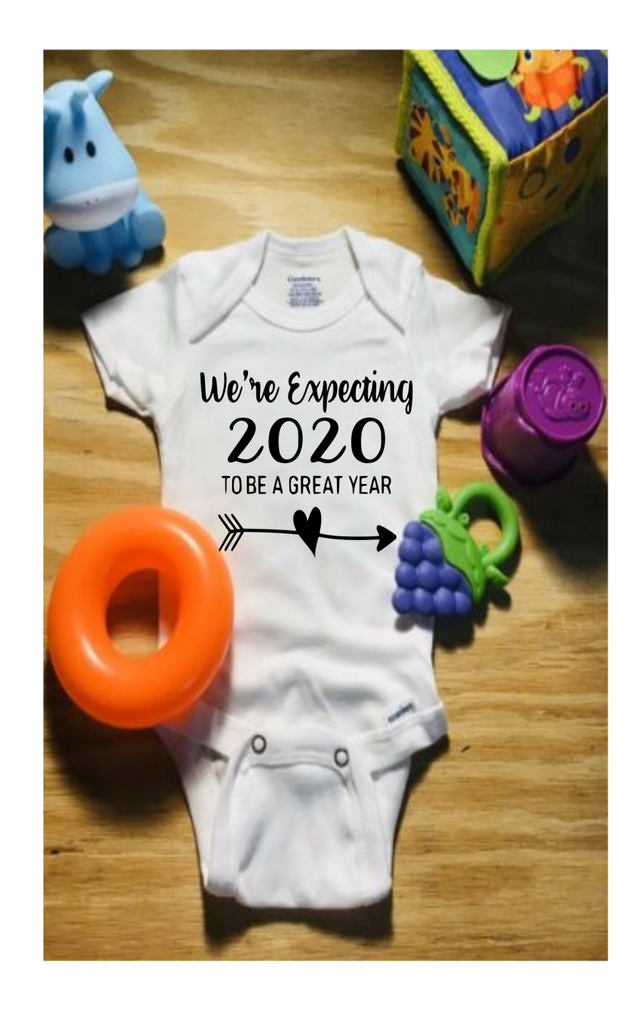We're Expecting 2020 to be a great year Gerber Brand Onesie