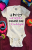 Happy First Father's Day Gerber Brand Onesie