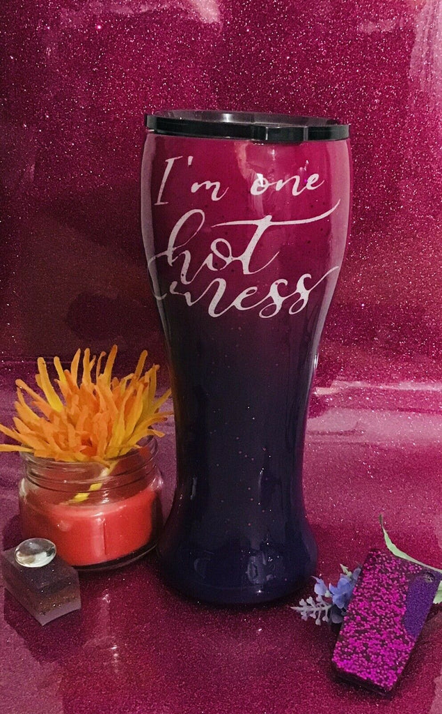 Custom Name I'm one Hot Mess Stainless Steel Tumbler 20oz