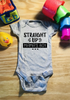 Straight Up Mama's Boy Gray Gerber Band Onesie