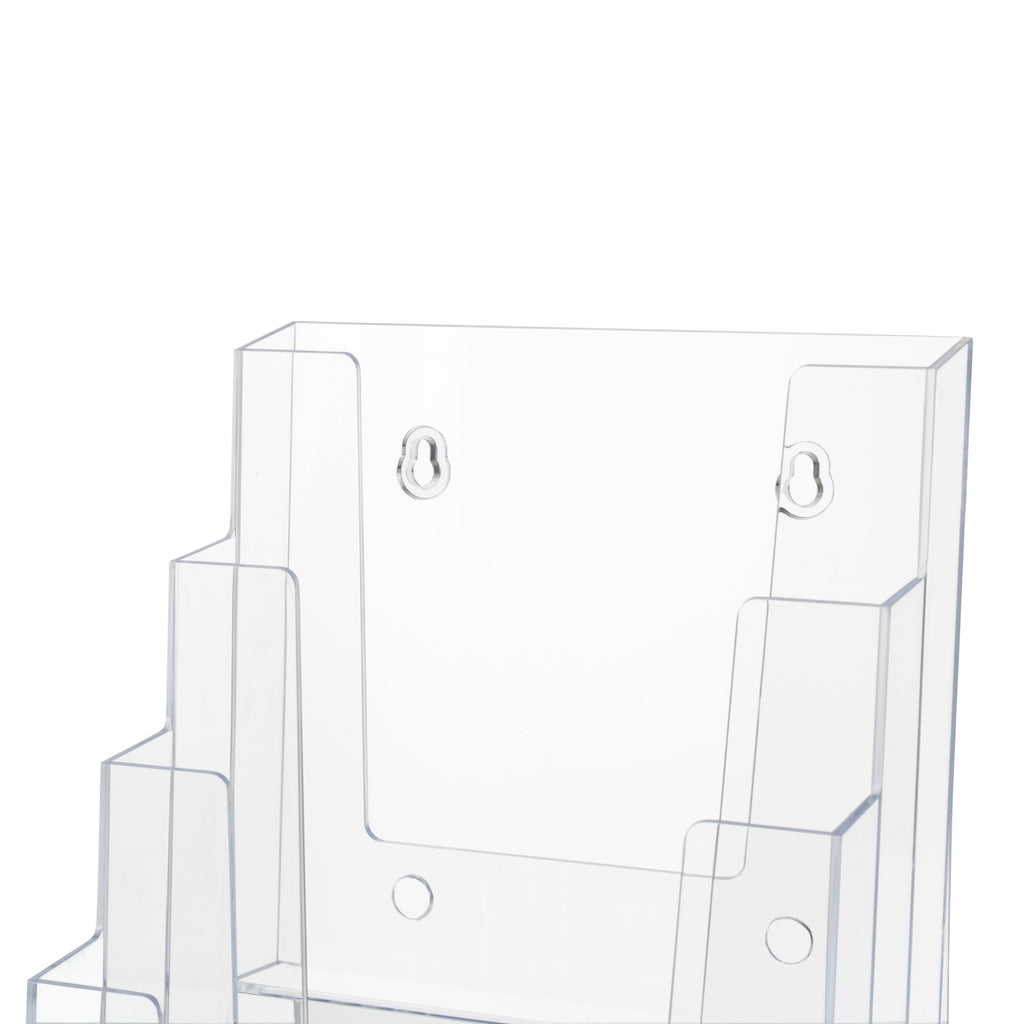 "6"" Bifold 4-Tier Brochure Holder ""booklet Style"""