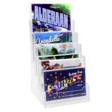 "Load image into Gallery viewer, 6"" Bifold 4-Tier Brochure Holder ""booklet Style"""
