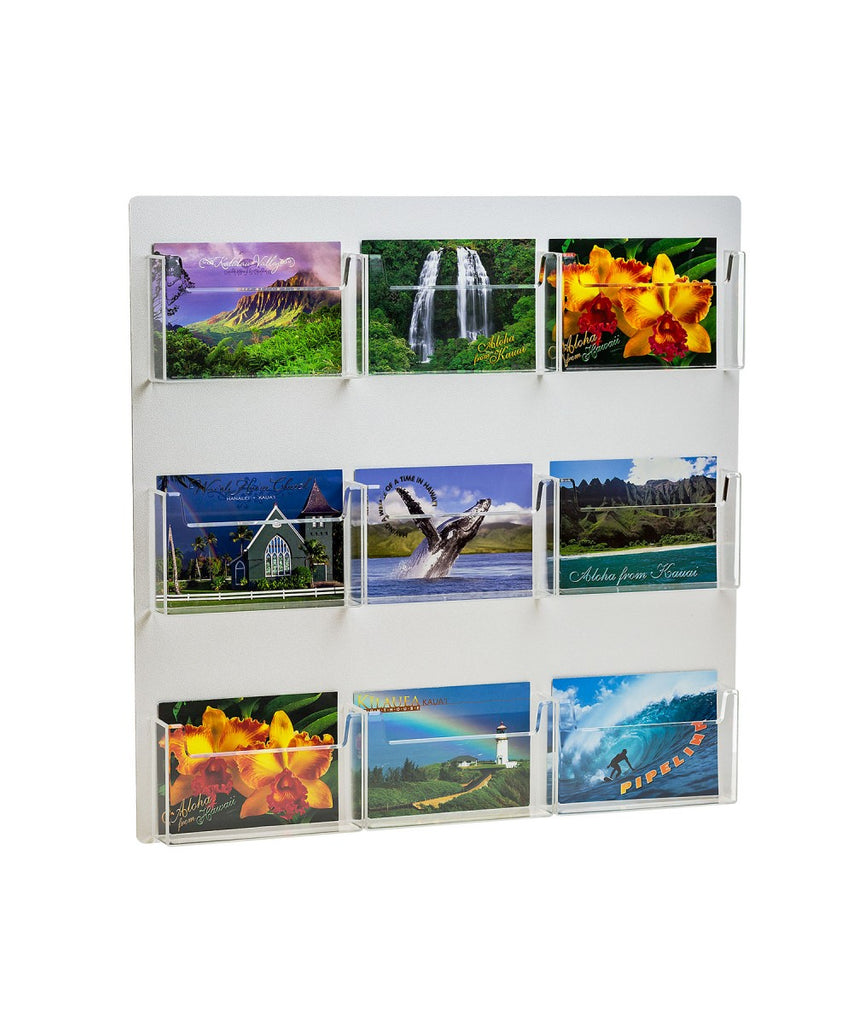 9 Pocket Postcard Holder for Wall Mount