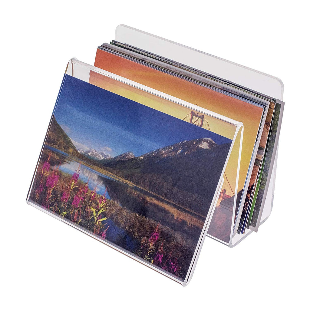 Acrylic Desk Organizer with Picture or Postcard Display