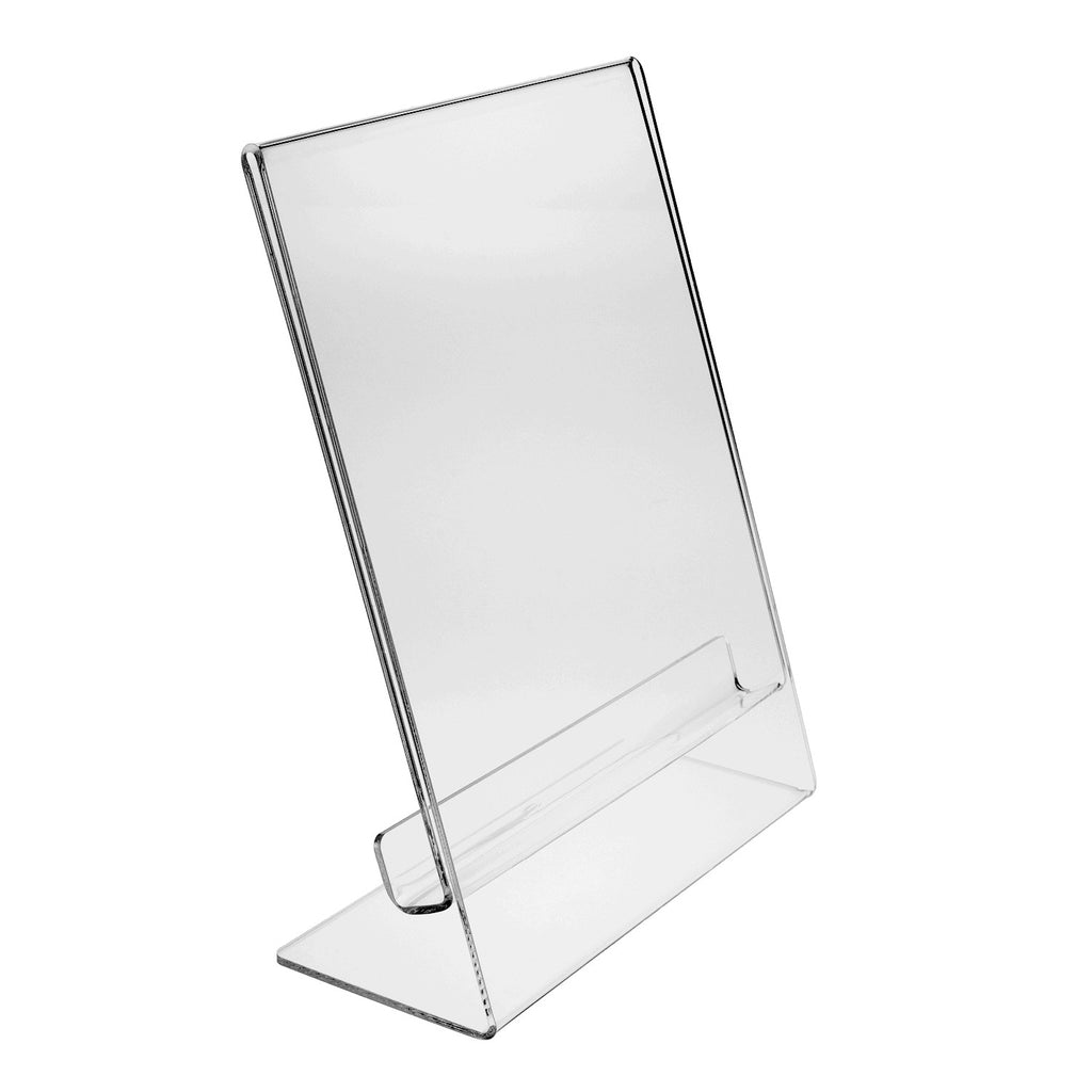 Thick Slant Back Sign Holder with Pull Tab, 8.5 x 11
