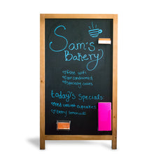 Load image into Gallery viewer, Wooden Magnetic A-Frame Chalkboard Sign for Restaurant and Cafe