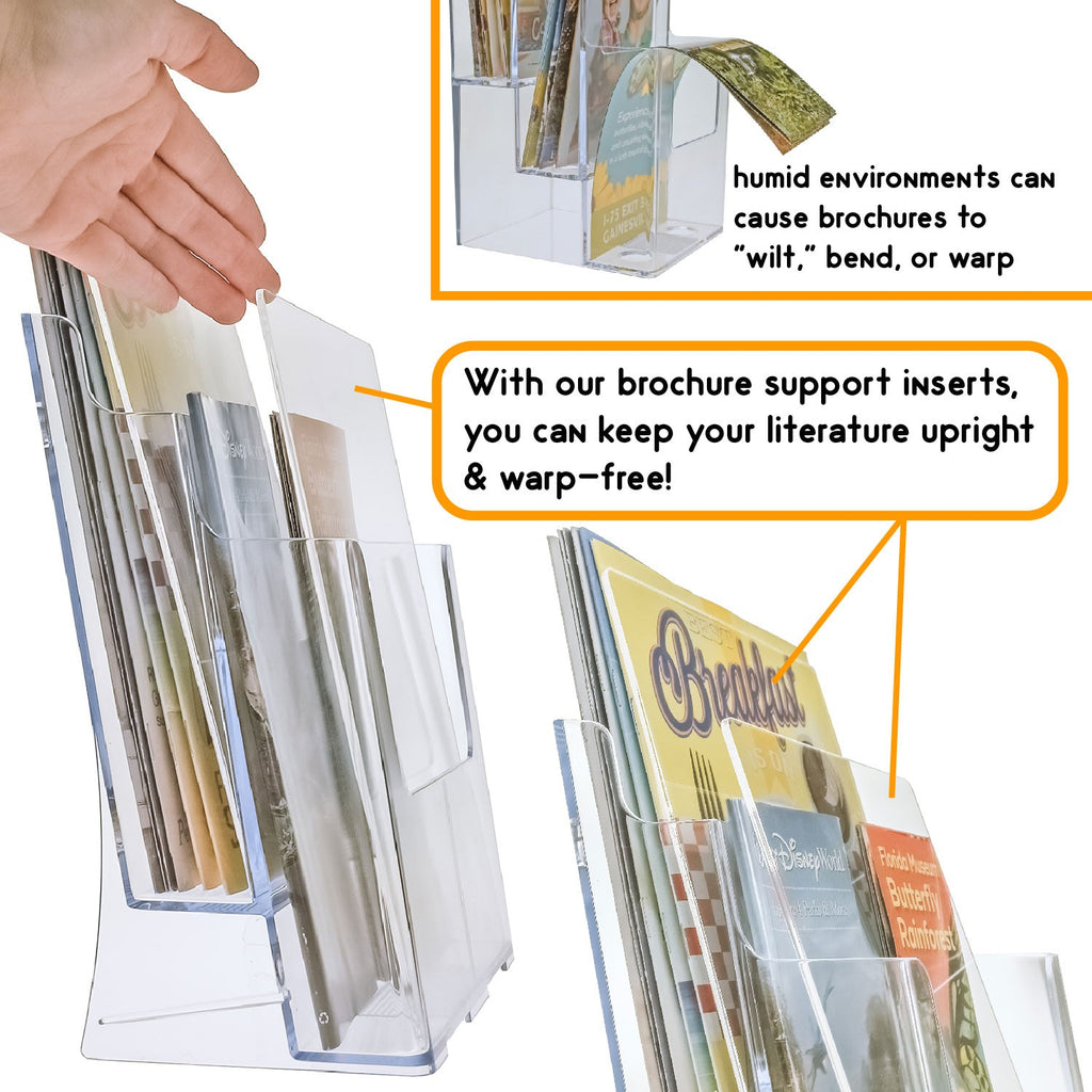 Brochure Support Insert for High Humidity Environments - Many Sizes!
