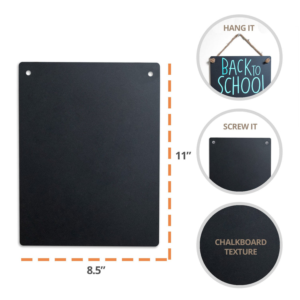 Heavy Duty Chalkboard Sign for Wall and Hanging