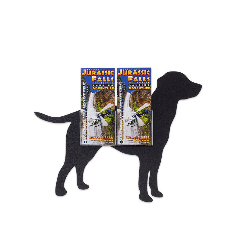 "Dog Deluxe 4"" x 9"" Trifold Brochure Holder, 2 Pocket"