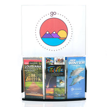 Load image into Gallery viewer, Curved Sign Holder with 3 Trifold Brochure Pockets