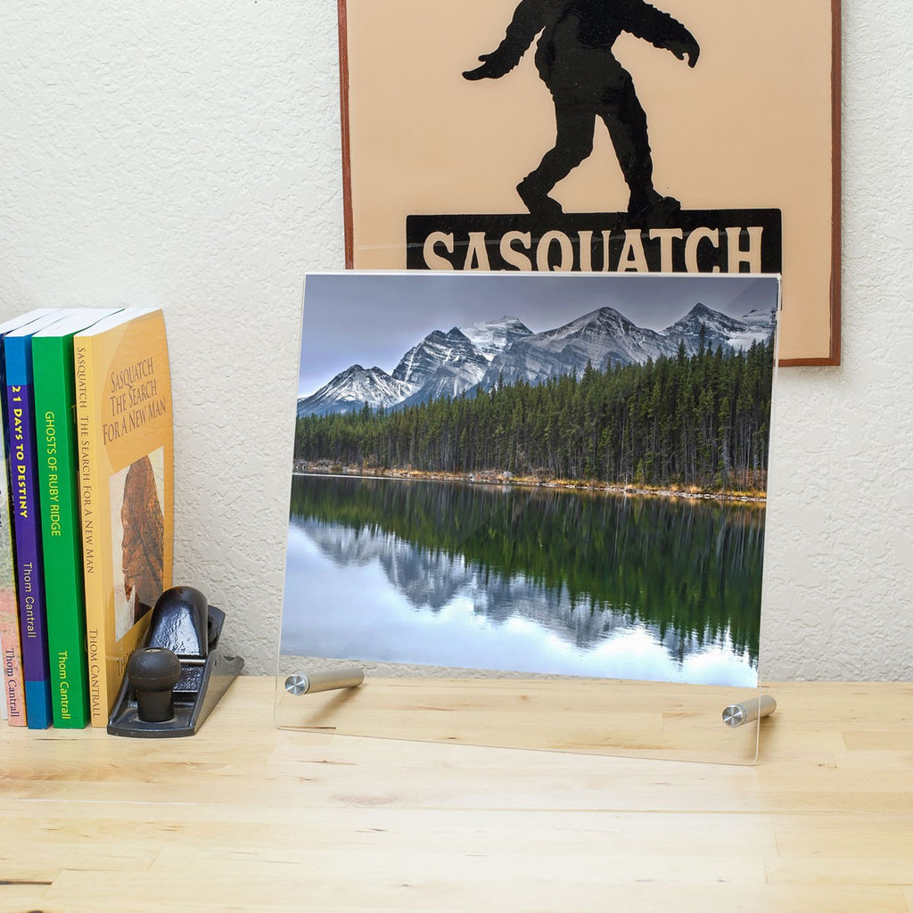 Premium Desktop Sign Holder with Standoff Hardware
