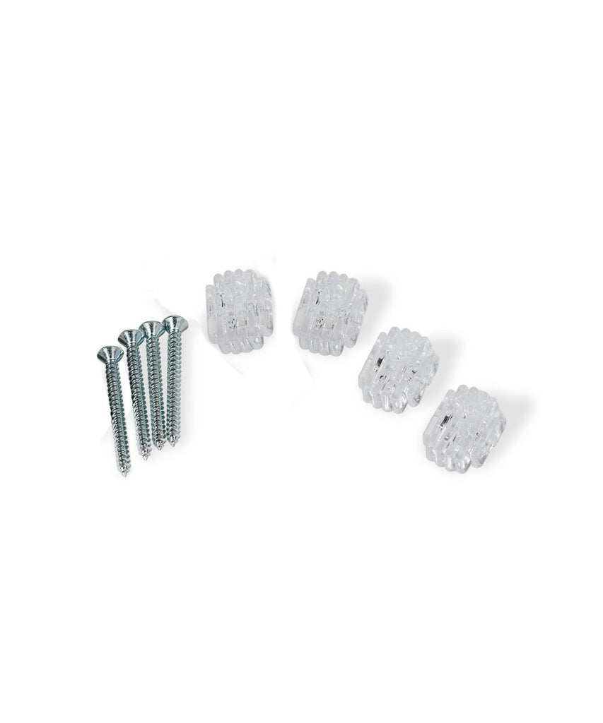 Clear Plastic Mirror Holder Clips, 4-Piece Set