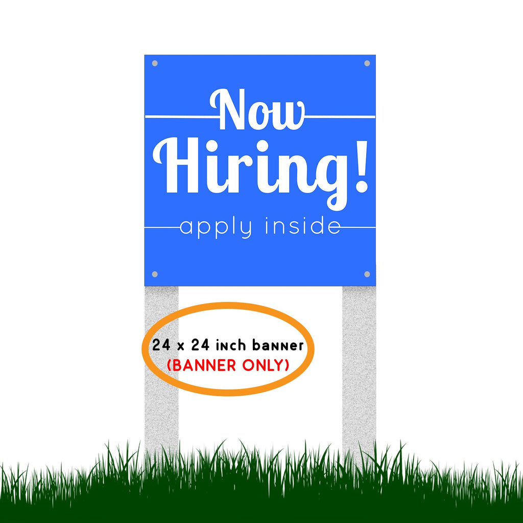 Now Hiring Vinyl Banner Sign with Grommets