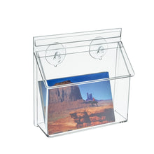 Load image into Gallery viewer, Postcard Holder with Lid for Outdoor Use, Window Glass Mount