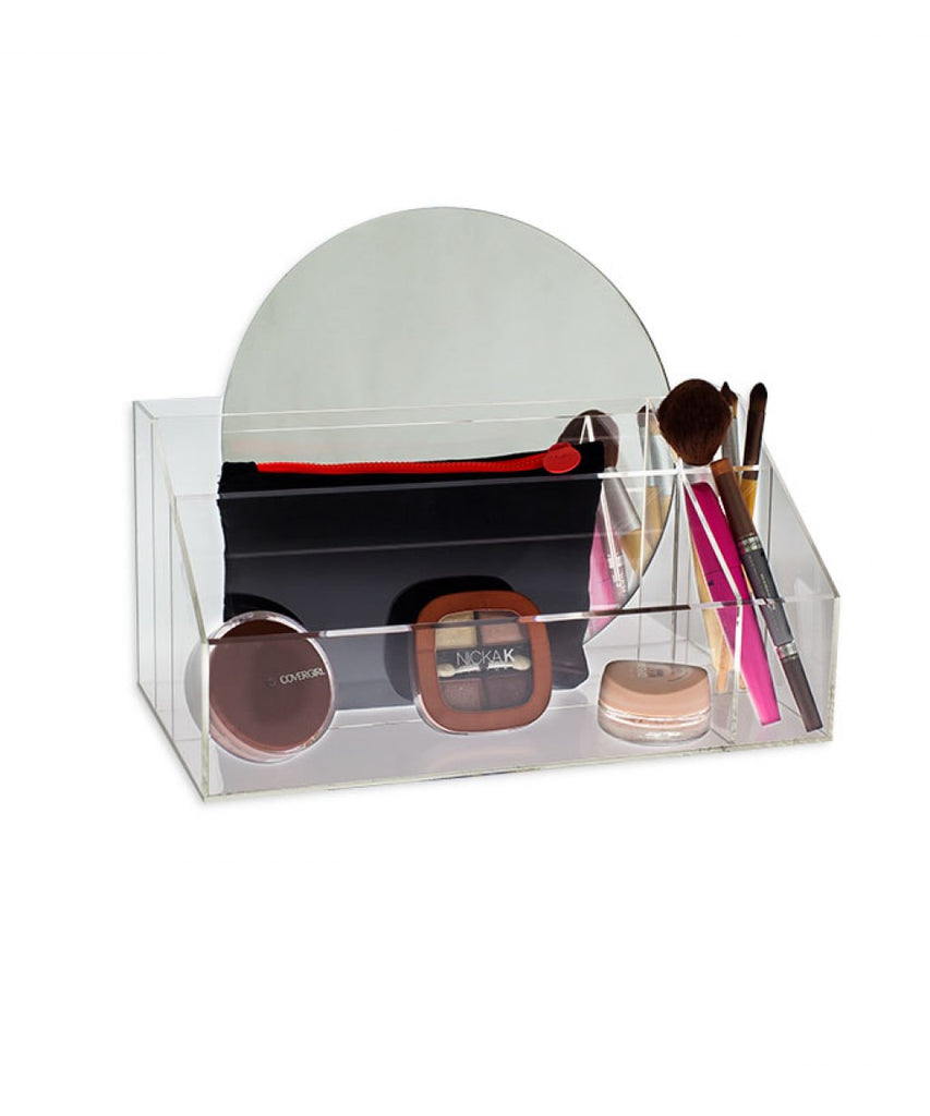 Acrylic Makeup Cosmetics Organizer with 5 Compartments