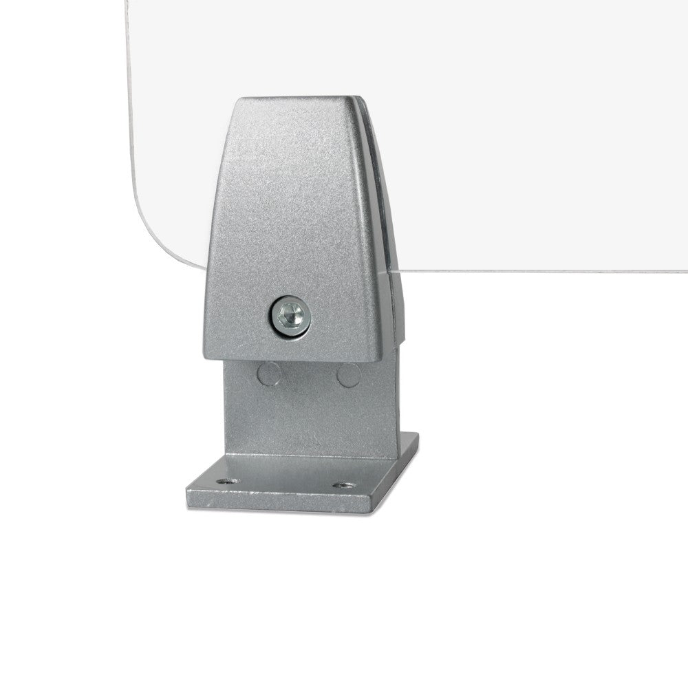 Top Mount Clamp for Sneeze Guards and Office Partition, 2 PCS.