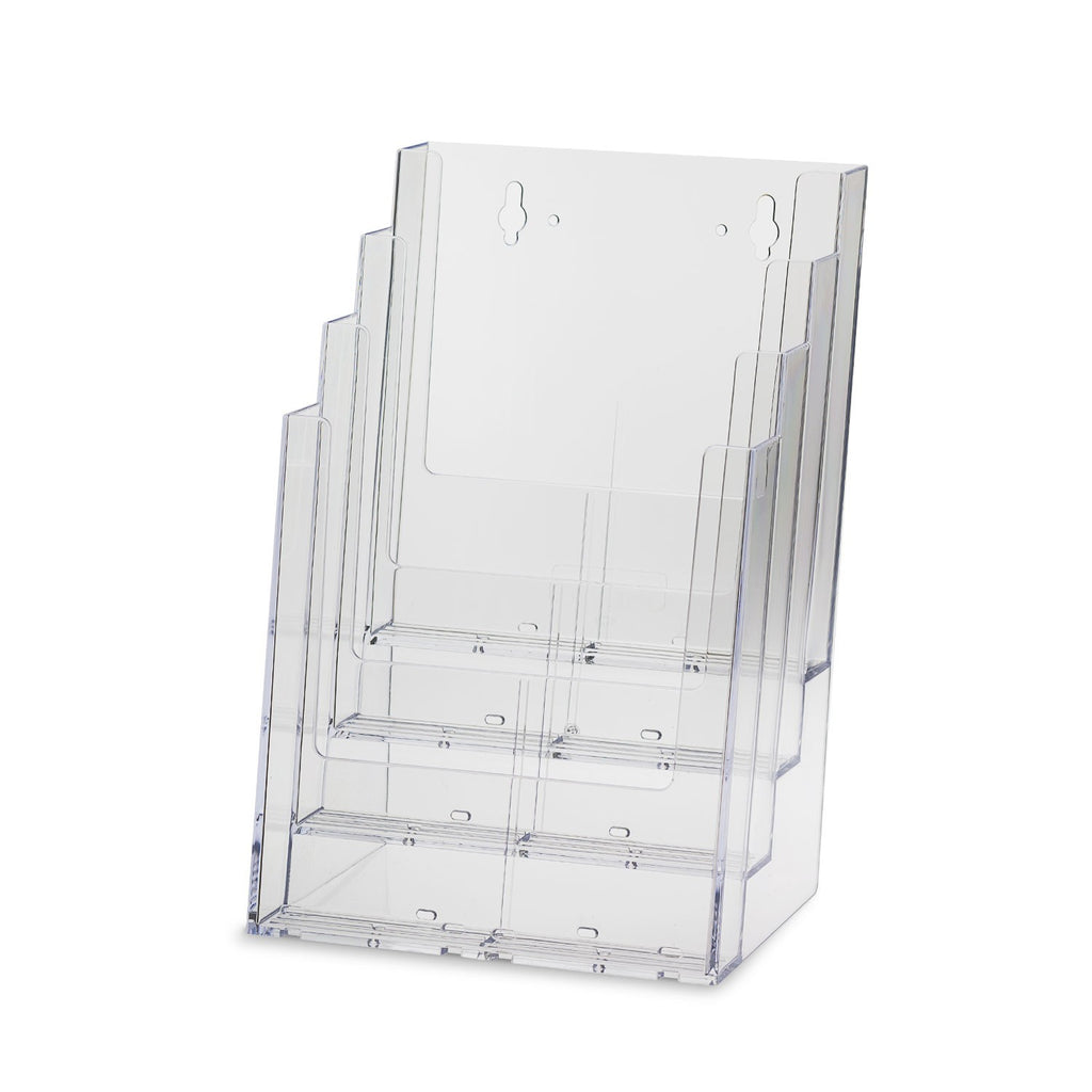 Deluxe 4-Tier Large Brochure Holder and Magazine Organizer