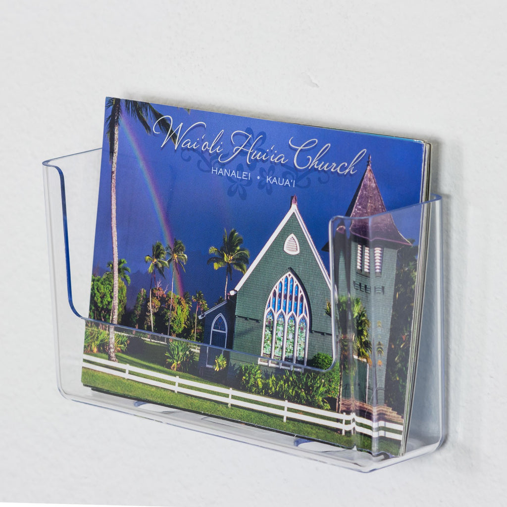"Wall Mount Postcard Holder, 6"" wide"