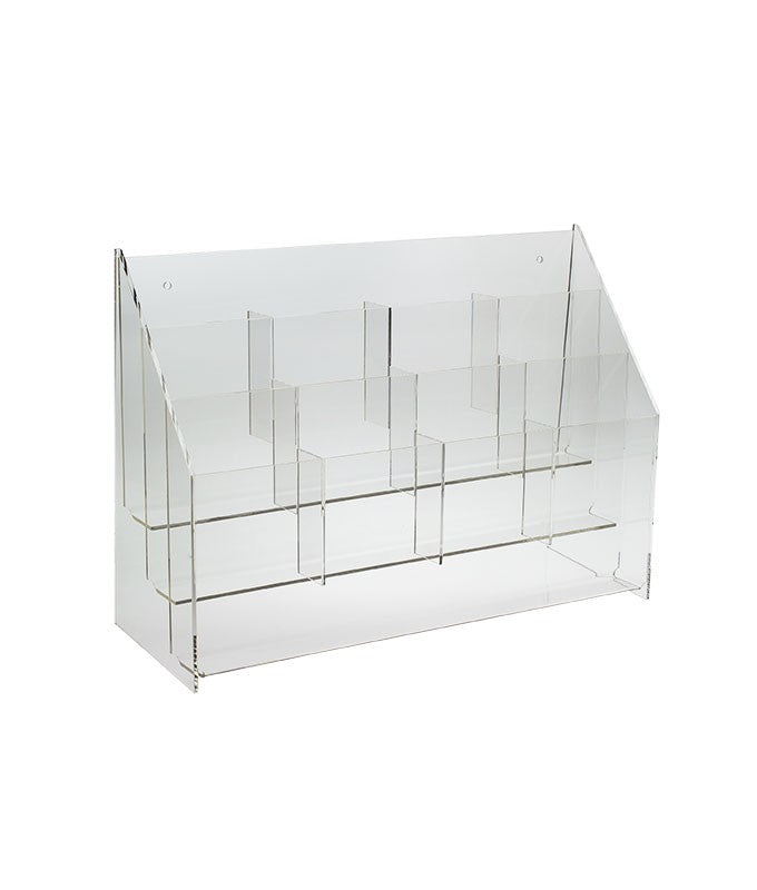 Premium Tiered Lucite Trifold Brochure Holders