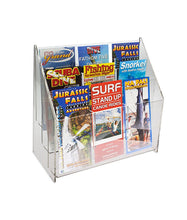 Load image into Gallery viewer, Premium Tiered Lucite Trifold Brochure Holders