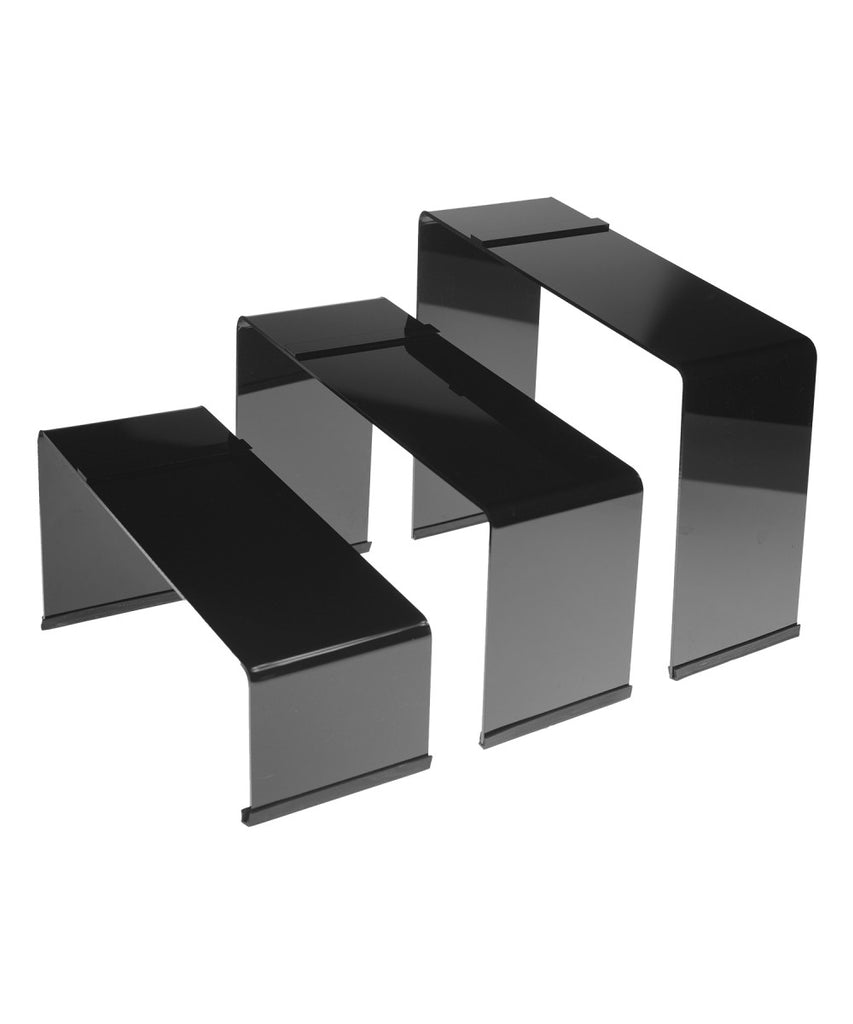 Shoe Display Risers in Set of 3 with Non Slip Rubber - Available in All Colors