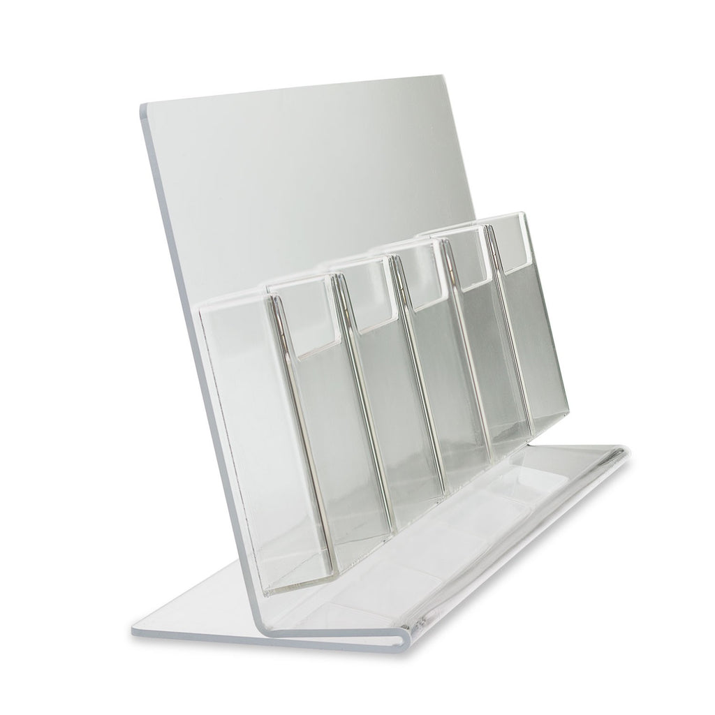 "Trifold Brochure Holder for 4"" x 9"" Brochure, 5 Pocket"
