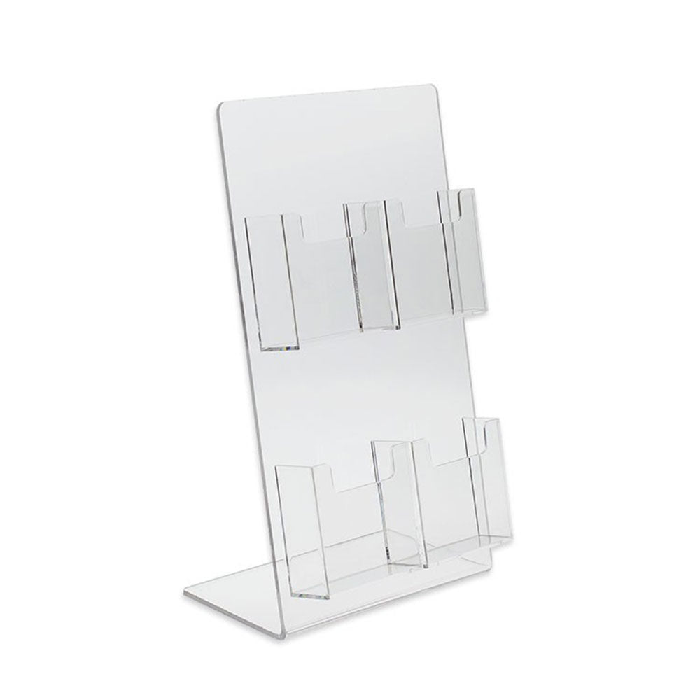 4 Pocket Tall Vertical Business Card Display Stand