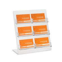 Load image into Gallery viewer, 6 Pocket Business Card Holder for Countertop
