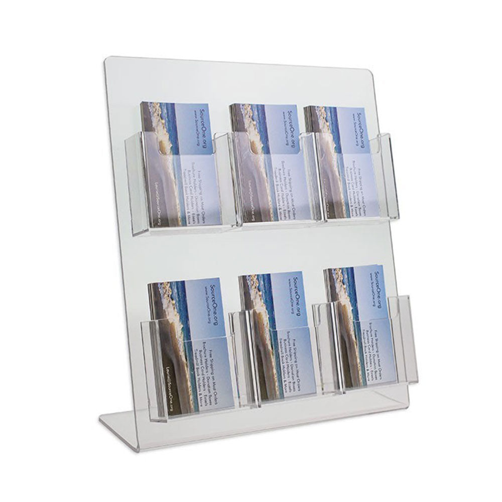 6 Pocket Vertical Business Card Display Stand