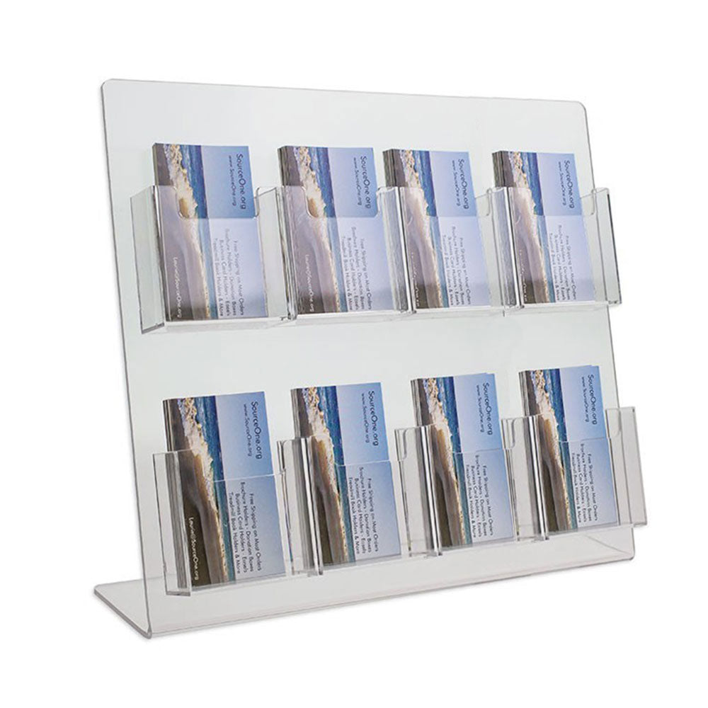8 Pocket Vertical Business Card Display Stand