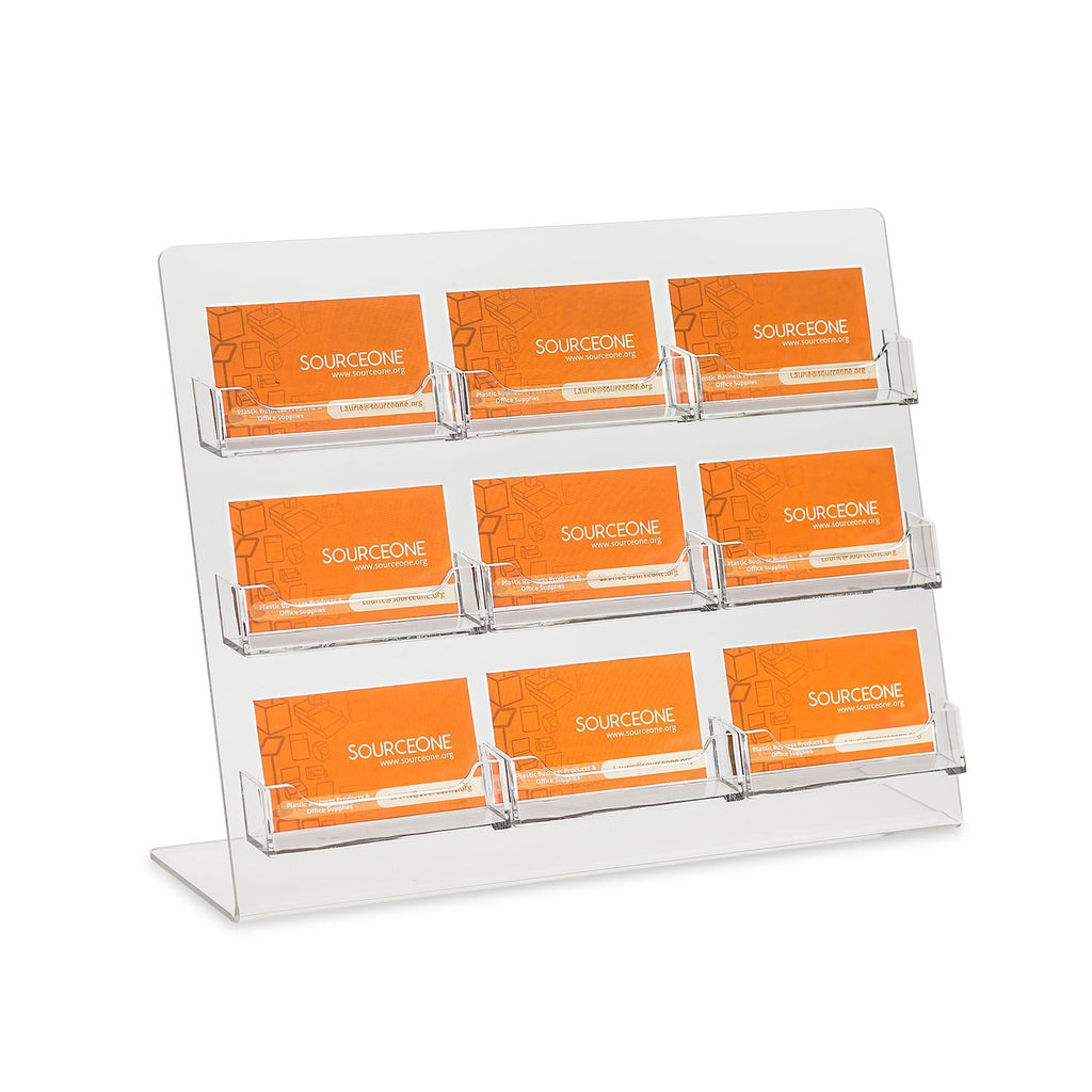 9 Pocket Business Card Holder for Countertop
