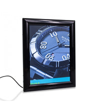 Load image into Gallery viewer, LED Backlit Black Ad Sign Frame