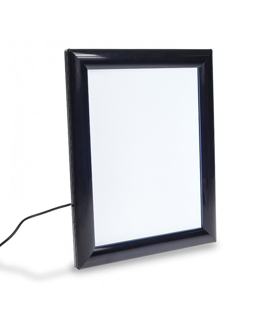 LED Backlit Black Ad Sign Frame