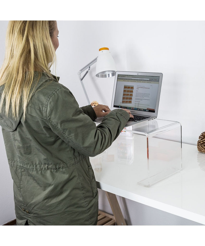 Acrylic Standing Desk for Laptop or Keyboard - Turn your desk into a standing desk!