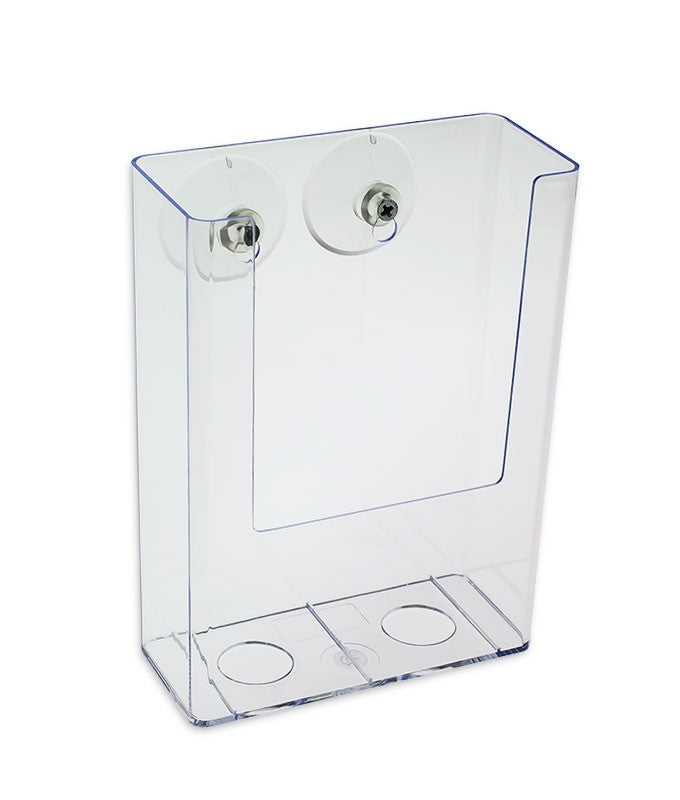 Tall Boy Trifold Brochure Holder for Window Glass Mount, 5""