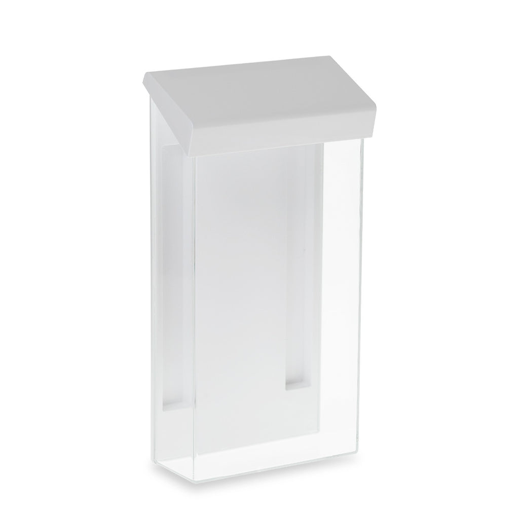 "4"" x 9"" Outdoor Trifold Brochure Holder, White"