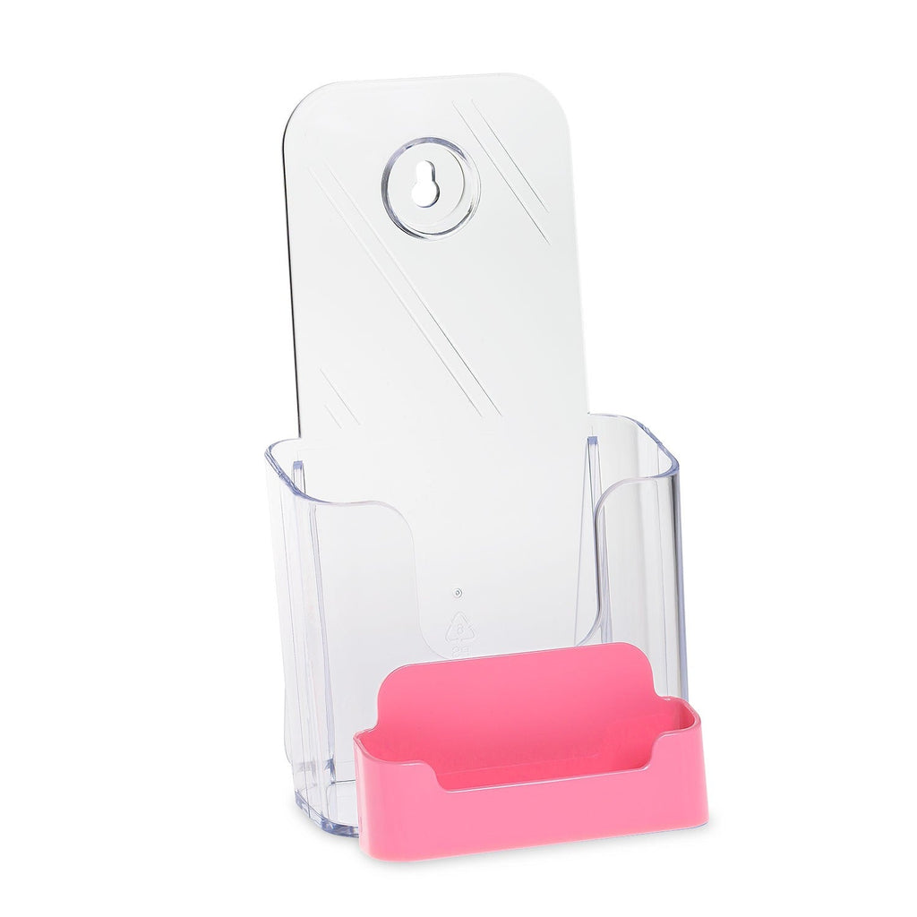 Trifold Brochure Holder with Business Card Holder
