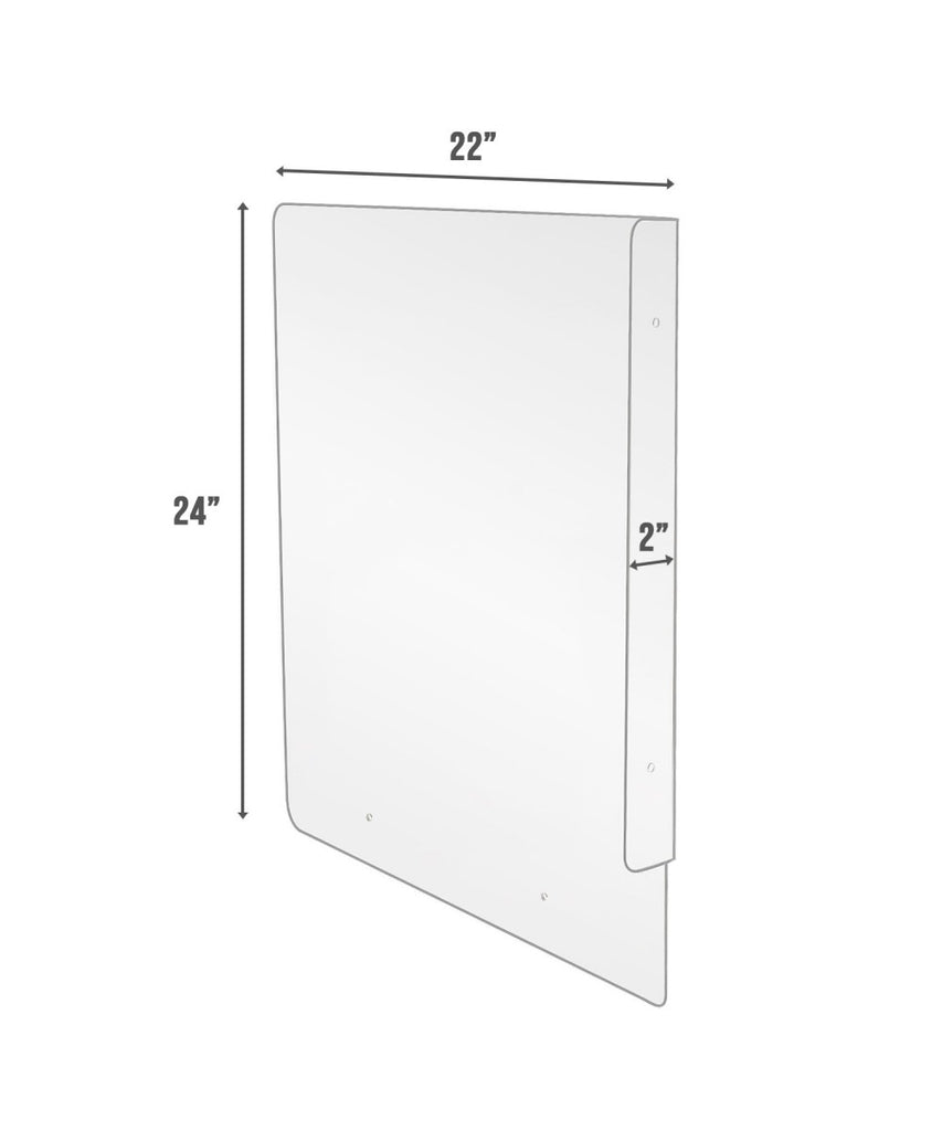 Restroom Urinal Divider & Partition - Available in Clear, White and Black