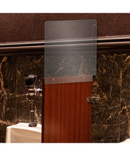 Load image into Gallery viewer, Restroom Urinal Divider & Partition - Available in Clear, White and Black