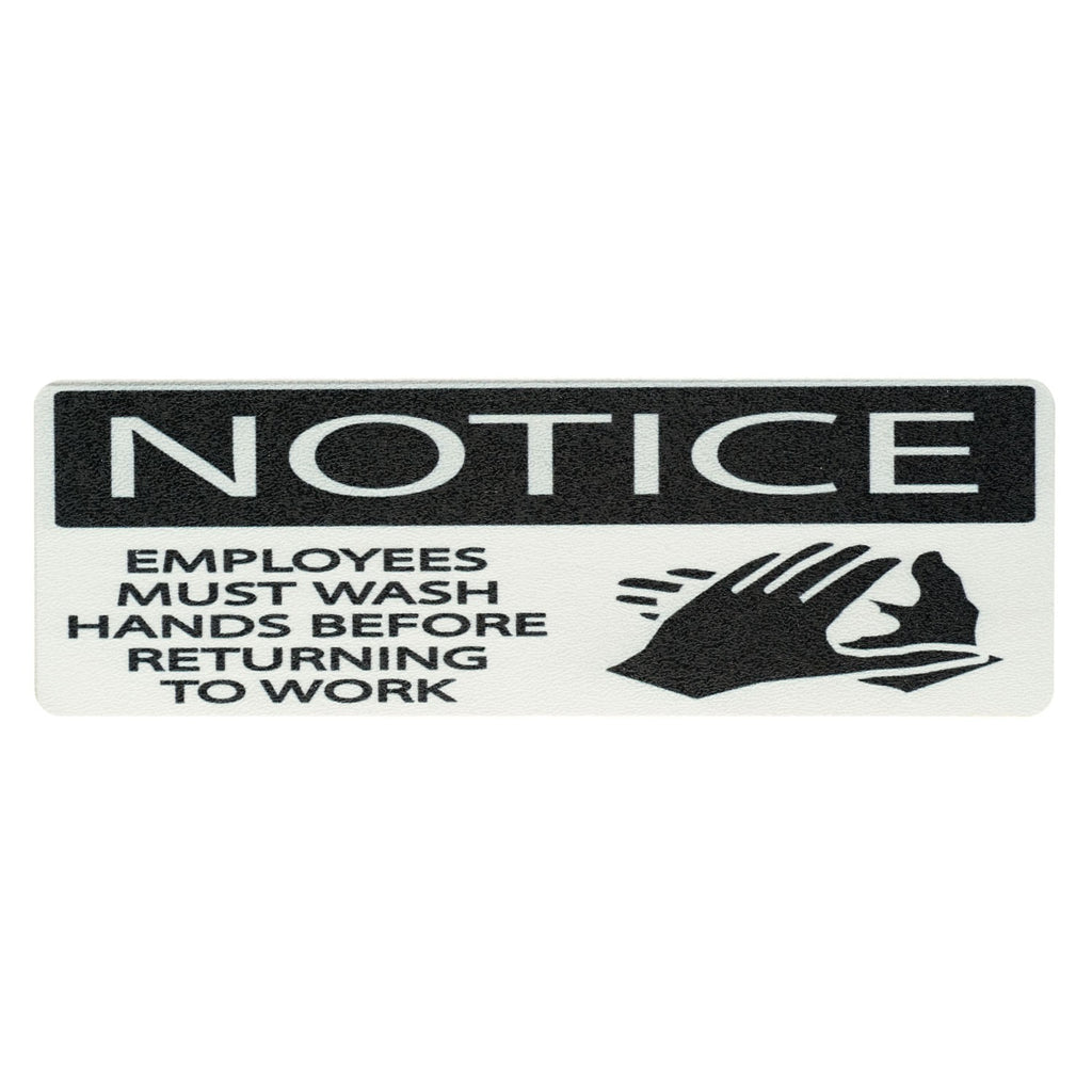 Employee Must Wash Hand Sign