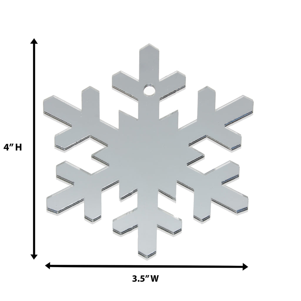 Snowflake Christmas Ornaments, 6 Pieces