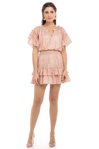 Kendall Dress - Rose Gold/Stripe