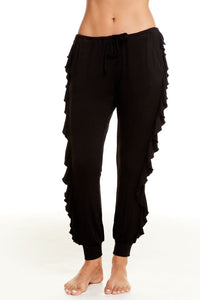 Cool Jersey Ruffle Side Drawstring Jogger