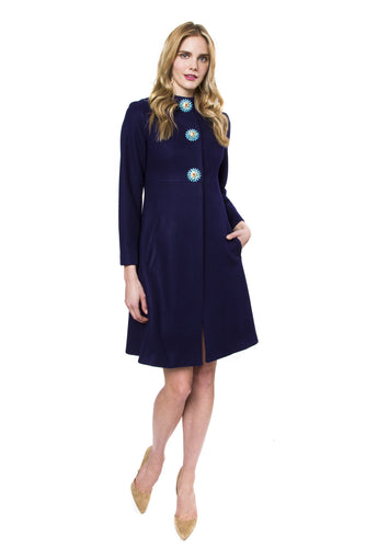 Dorothy Evening Navy Coat