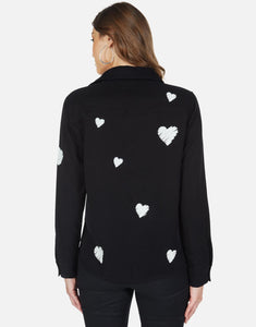 Silvia Scribble Hearts Button Up