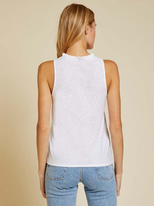 Janie Sleeveless Ruffle Neck Tank